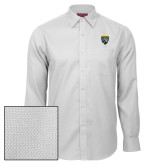 College Red House White Diamond Dobby Long Sleeve Shirt-Sesqui Crest
