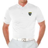 College Callaway Opti Vent White Polo-Sesqui Crest