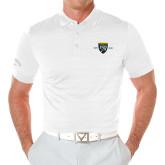 College Callaway Opti Vent White Polo-Sesqui Crest Dates