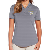 College Ladies Callaway Horizontal Textured Steel Grey Polo-Sesqui Text