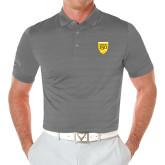 College Callaway Opti Vent Steel Grey Polo-Sesqui Crest