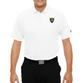 College Under Armour White Performance Polo-Sesqui Crest