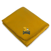 Gold Arctic Fleece Blanket-Canisius w/ Griff Stacked