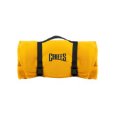 Gold Arctic Fleece Blanket-Griffs Wordmark