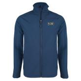 Navy Softshell Jacket-Griffs Wordmark