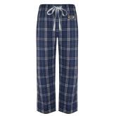 Navy/White Flannel Pajama Pant-Griffs Wordmark