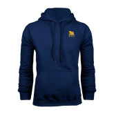 Navy Fleece Hoodie-Canisius w/ Griff Stacked