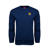 Navy Fleece Crew-Canisius w/ Griff Stacked