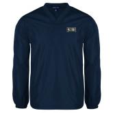 V Neck Navy Raglan Windshirt-Griffs Wordmark