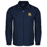 Full Zip Navy Wind Jacket-Canisius w/ Griff Stacked