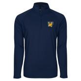 Sport Wick Stretch Navy 1/2 Zip Pullover-Griffs w/ Griff Stacked