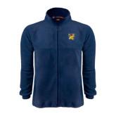 Fleece Full Zip Navy Jacket-Griffs w/ Griff Stacked
