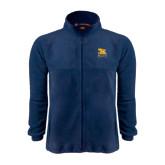 Fleece Full Zip Navy Jacket-Canisius w/ Griff Stacked