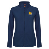 Ladies Fleece Full Zip Navy Jacket-Canisius w/ Griff Stacked