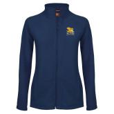 Ladies Fleece Full Zip Navy Jacket-Canisius w/ Griff Stacked