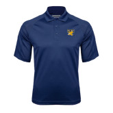 Navy Textured Saddle Shoulder Polo-Griffs w/ Griff Stacked