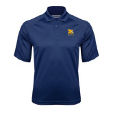 Navy Textured Saddle Shoulder Polo-Canisius w/ Griff Stacked