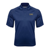 Navy Textured Saddle Shoulder Polo-Griffs Wordmark