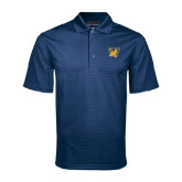 Navy Mini Stripe Polo-Griffs w/ Griff Stacked