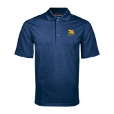 Navy Mini Stripe Polo-Canisius w/ Griff Stacked