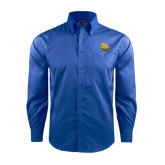 Red House French Blue Dobby Long Sleeve Shirt-Canisius w/ Griff Stacked