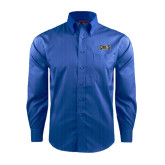 Red House French Blue Dobby Long Sleeve Shirt-Griffs Wordmark