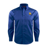 Red House French Blue Long Sleeve Shirt-Canisius w/ Griff Stacked