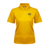 Ladies Gold Dry Mesh Polo-Griffs w/ Griff Stacked