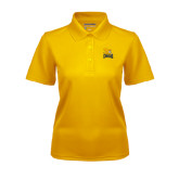 Ladies Gold Dry Mesh Polo-Canisius w/ Griff Stacked