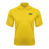 Gold Textured Saddle Shoulder Polo-Griffs Wordmark