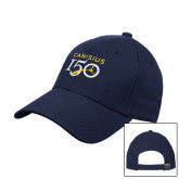College Navy Heavyweight Twill Pro Style Hat-Sesqui Text