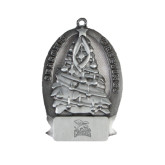 Pewter Tree Ornament-Canisius w/ Griff Stacked Engraved
