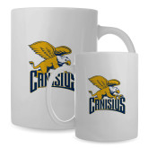 Full Color White Mug 15oz-Canisius w/ Griff Stacked
