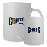 Full Color White Mug 15oz-Griffs Wordmark
