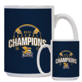 Full Color White Mug 15oz-2017 MAAC Champions Baseball