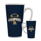 Full Color Latte Mug 17oz-2017 MAAC Champions Baseball