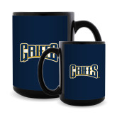 Full Color Black Mug 15oz-Griffs Wordmark
