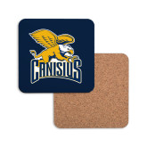 Hardboard Coaster w/Cork Backing-Canisius w/ Griff Stacked