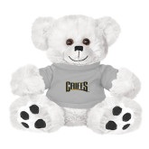 Plush Big Paw 8 1/2 inch White Bear w/Grey Shirt-Griffs Wordmark
