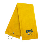 Gold Golf Towel-Griffs w/ Griff Stacked