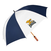 62 Inch Navy/White Umbrella-Canisius w/ Griff Stacked