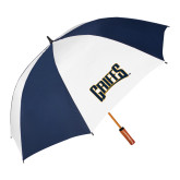 62 Inch Navy/White Umbrella-Griffs Wordmark