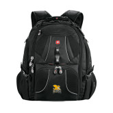 Wenger Swiss Army Mega Black Compu Backpack-Canisius w/ Griff Stacked