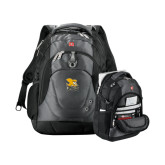 Wenger Swiss Army Tech Charcoal Compu Backpack-Canisius w/ Griff Stacked