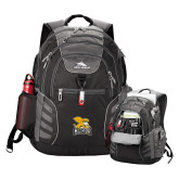 High Sierra Big Wig Black Compu Backpack-Canisius w/ Griff Stacked