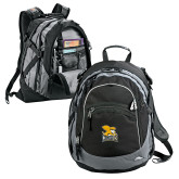 High Sierra Black Fat Boy Day Pack-Canisius w/ Griff Stacked