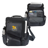 Momentum Black Computer Messenger Bag-Canisius w/ Griff Stacked