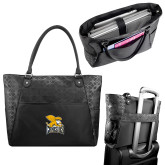 Sophia Checkpoint Friendly Black Compu Tote-Canisius w/ Griff Stacked