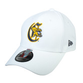 College White Structured Adjustable Cap-