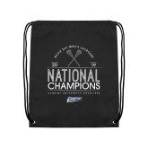 Black Drawstring Backpack-2019 National Mens Lacrosse Champions